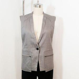 Helmut Lang Vest Gray Sleeveless Jacket Gillette